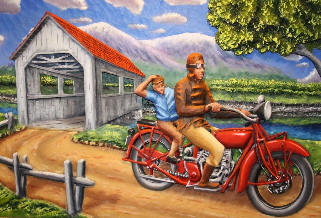 oeuvre Claude Vézina Balade en moto